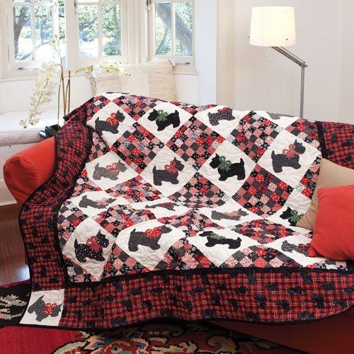 Elegant scottie dog quilt 9 Beautiful Scottie Dog Quilt Pattern Gallery