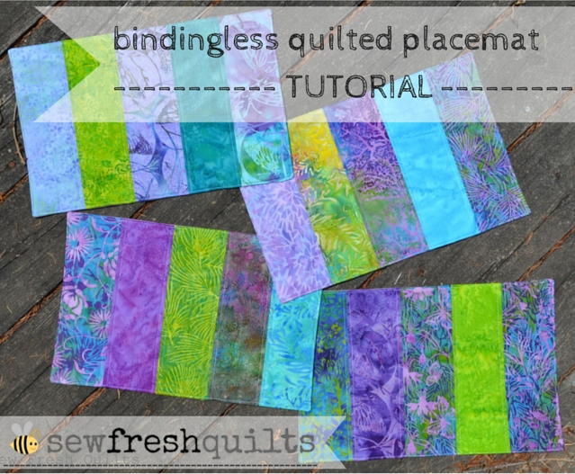 Elegant sew fresh quilts bindingless quilted placemats a tutorial 9 Elegant Easy Quilted Placemat Patterns