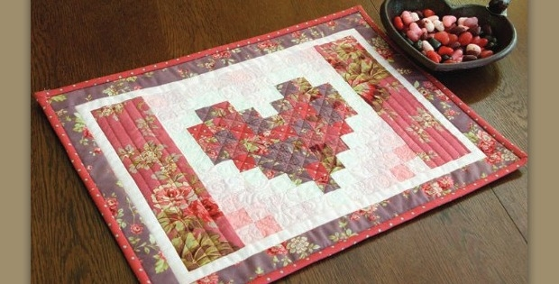 Elegant these heart placemats are super quick and easy quilting digest 9 Elegant Easy Quilted Placemat Patterns
