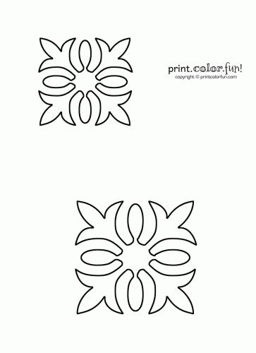 hawaiian quilt stencil coloring page print color fun 10 Cozy Hawaiian Quilting Patterns