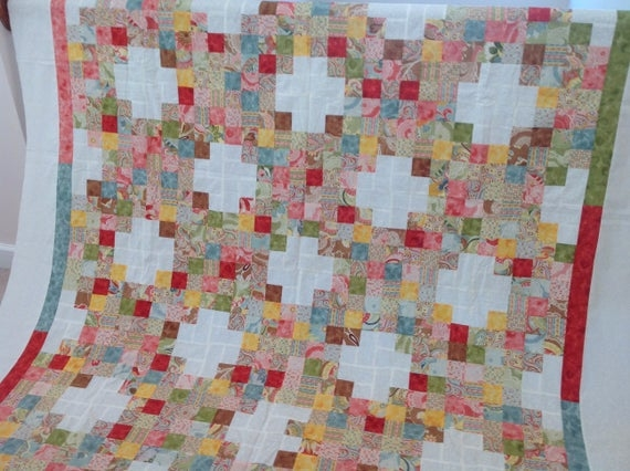 Interesting daisy chain jelly roll quilt top measures72x96 9 Modern Fig Tree Daisy Chain Quilt Pattern Inspirations