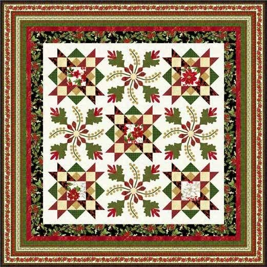 Interesting dancing poinsettias quilt free pattern download 11 Stylish Poinsettia Quilt Pattern Inspirations