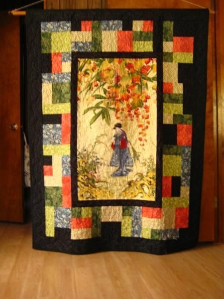 Interesting oriental beauty japanese quilts asian quilts japanese 10 Elegant Beautiful Oriental Fabric Panels For Quilting Ideas