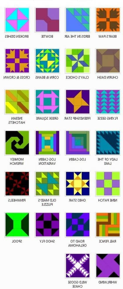 Interesting timber surfaces youll find so many different hues on the New Barn Quilt Patterns Meanings Gallery