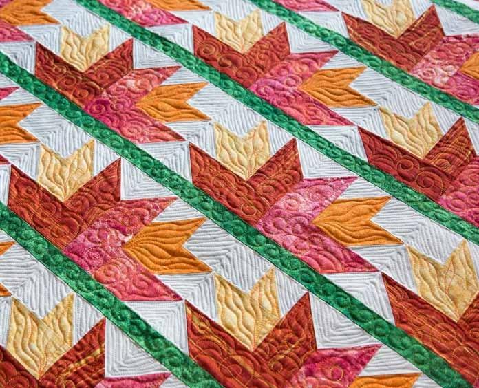 Modern birds of paradise quilt Modern Bird Of Paradise Quilt Pattern Inspirations