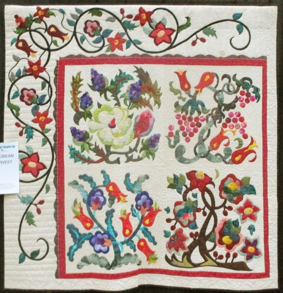 Modern patricia b campbell jacobean arbor american quilters Stylish Pat Campbell Applique Quilt Pattern