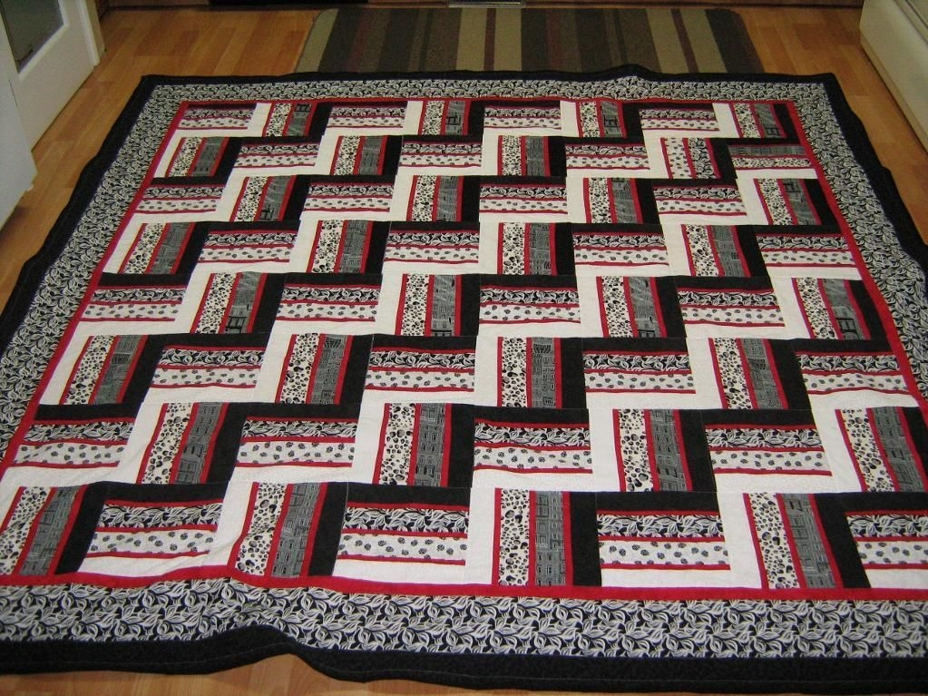 Modern rail fence quilt inspiration for my quilt rail fence 10 Cool Fence Rail Quilt Patterns Gallery