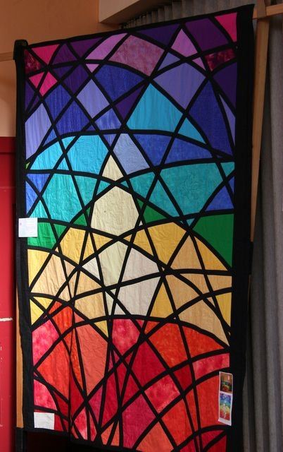 Modern stained glass window quilt stained glass quilt stained 11   Stained Glass Window Quilt Pattern Gallery