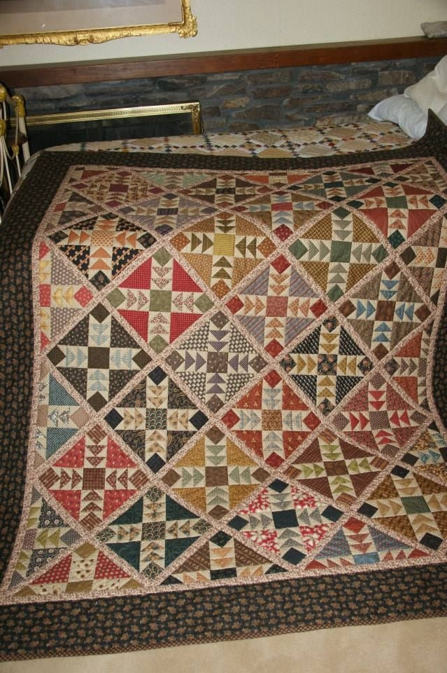 Modern wild goose chase in civil war reproduction fabrics Elegant Wild Goose Chase Quilt Pattern Inspirations