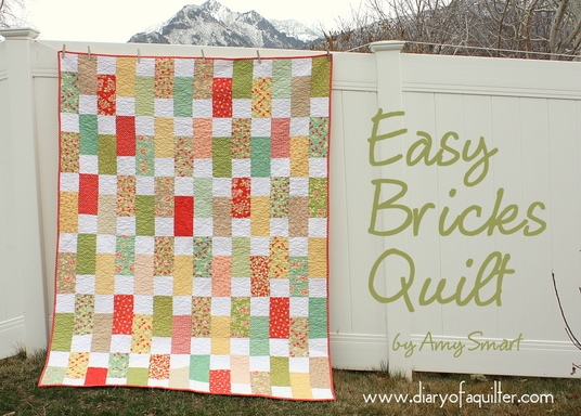 New easy strawberry fields bricks quilt modafabrics 9 Modern Fig Tree Daisy Chain Quilt Pattern Inspirations