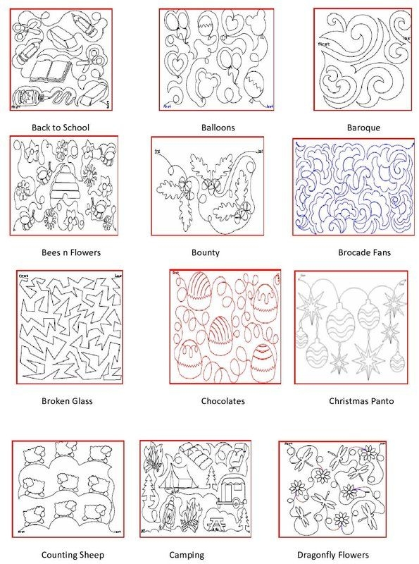 pattern book free motion quilting patterns quilting Modern Long Arm Quilting Patterns Gallery