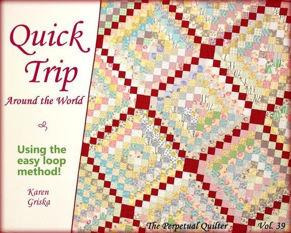 quilt pattern trip around the world quilt easy quilt pattern twin quilt instant download quilt pattern qtm 9 Cool Quick Trip Around The World Quilt Pattern