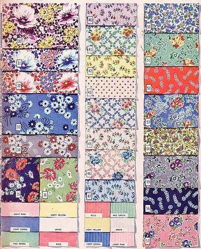 Stylish 1940s fabric samples vintage quilts retro fabric quilts 11 Interesting Vintage Quilt Fabric Gallery
