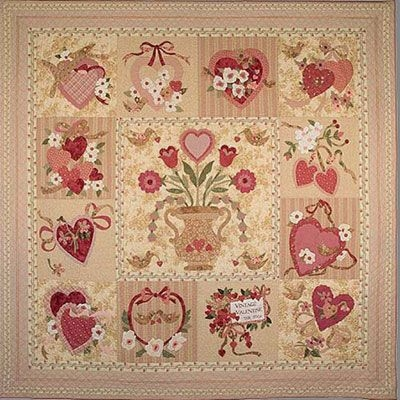 Stylish love this quilt vintage valentine quilt pattern verna 10 Cool Vintage Valentine Quilt Pattern Inspirations