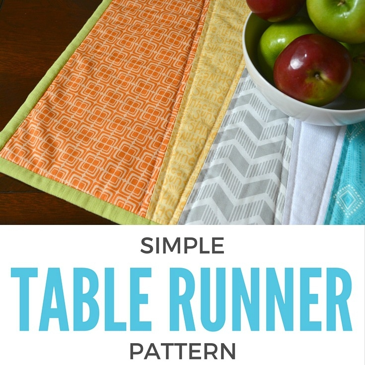 Stylish simple table runner diy the sewing loft Cool Simple Quilted Table Runner Patterns