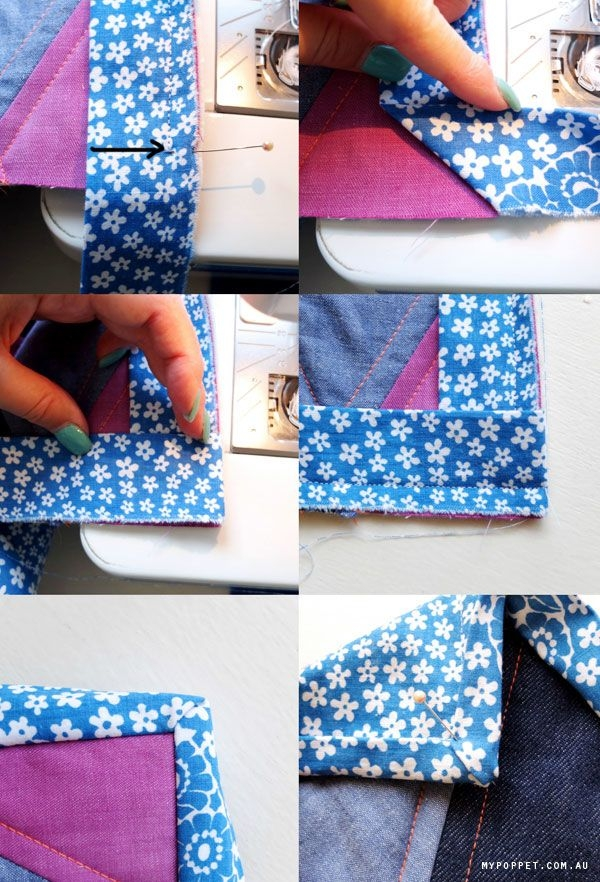 Stylish triangle quiltalong binding quilt binding quilt sewing 10 Beautiful Sewing Binding On Quilt Corners
