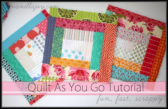 Stylish tutorial scrappy log cabin quilt as you go qayg quilt 9   Scrappy Log Cabin Quilt Pattern