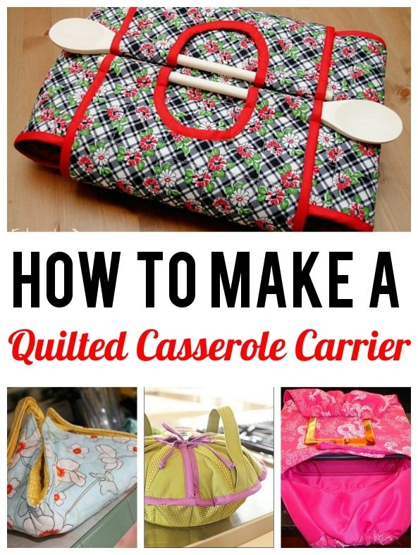 Unique 8 cute casserole carrier patterns to sew casserole 10 Cool Quilted Casserole Carrier Pattern Inspirations