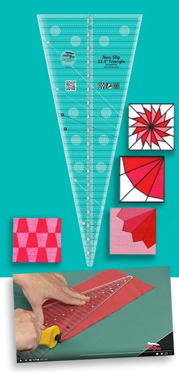 Unique creative grids non slip 225 degree triangle quilt ruler 9 Cozy Triangle Quilt Ruler Gallery