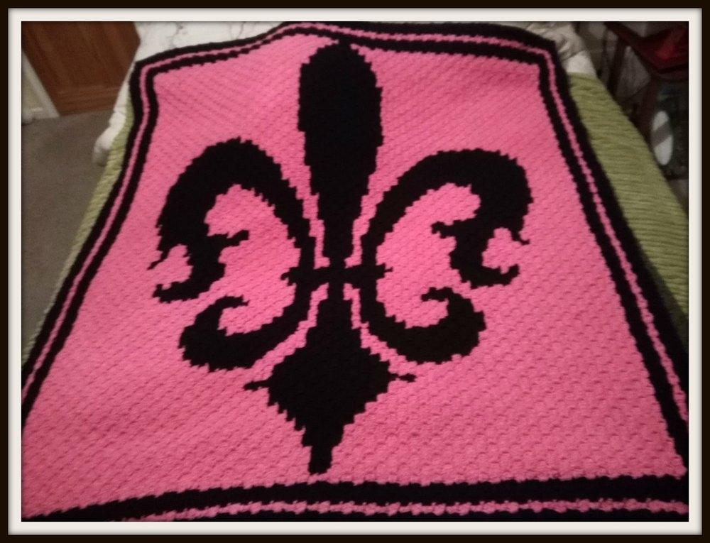 Unique fleur de lis afghan c2c crochet pattern 10 Stylish Free Fleur De Lis Quilt Pattern