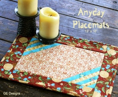 Unique free pattern anyday placemats gudrun 10 Unique Quilted Placemat Patterns To Sew Gallery