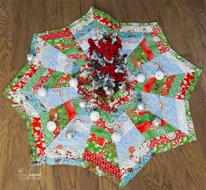 Unique how to make a christmas tree skirt youll love the Cozy Quilted Tree Skirt Pattern Inspirations