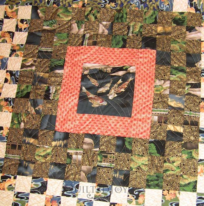 Unique lindas oriental panel quilt quilted joy 10 Elegant Beautiful Oriental Fabric Panels For Quilting Ideas