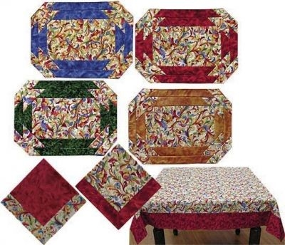 Unique table graces placemat napkin and tablecloth pattern jd 01 9 Elegant Easy Quilted Placemat Patterns