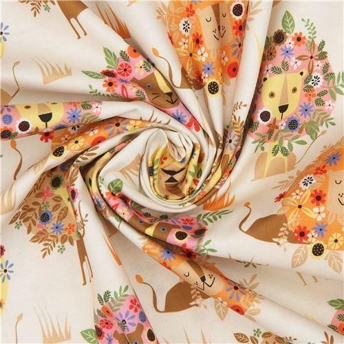 Beautiful beige lion fabric quilting treasures 11 Modern Stylish Quilting Treasures Fabric