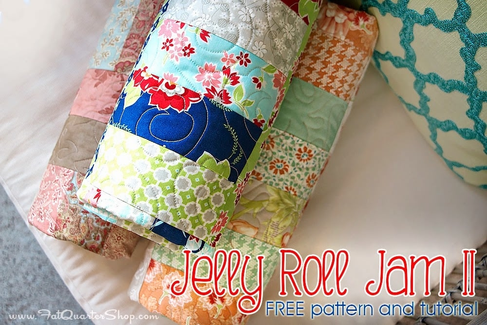 Cool jelly roll jam ii free quilt pattern with fat quarter shop 10 Beautiful Fat Quarter Jelly Roll Quilt Inspirations