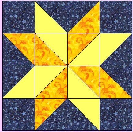 Cool missouri quilt block patterns for the hunter star block 10   Missouri Quilt Block Patterns Gallery