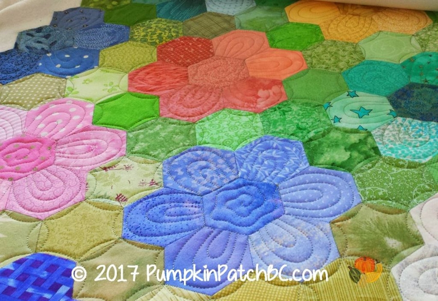Cool the story behind the quilt grandmothers flower garden apqs Grandma Flower Garden Quilt Pattern