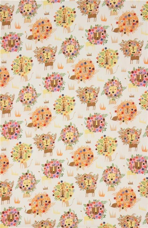 Elegant beige lion fabric quilting treasures 11 Modern Stylish Quilting Treasures Fabric