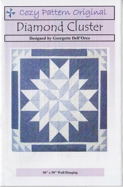 Interesting cozy quilt pattern diamond cluster jordan fabrics cozy 10 Unique Cozy Quilt Designs Patterns Gallery