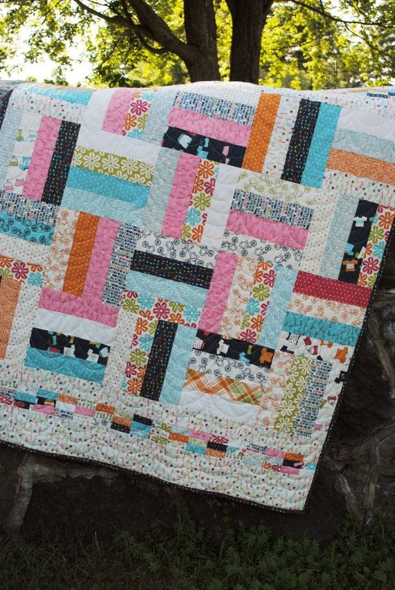 Interesting pin on quilting 10 Beautiful Fat Quarter Jelly Roll Quilt Inspirations