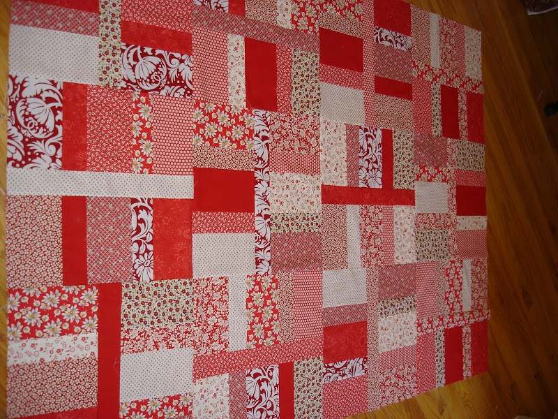 New moving on to the past quilt top wickedly easy red 9   Wickedly Easy Quilt Pattern