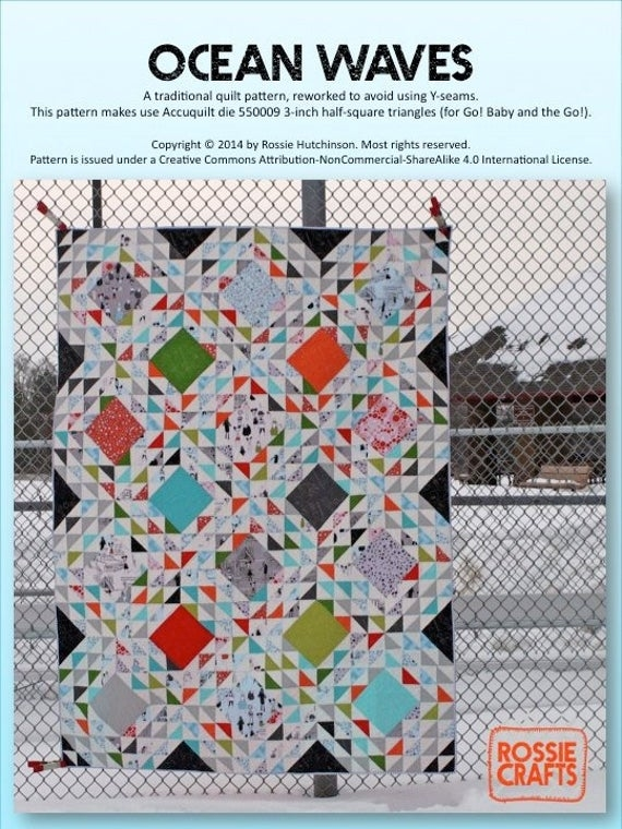 Stylish ocean waves pdf quilt pattern 10 Elegant Ocean Waves Quilt Pattern Inspirations