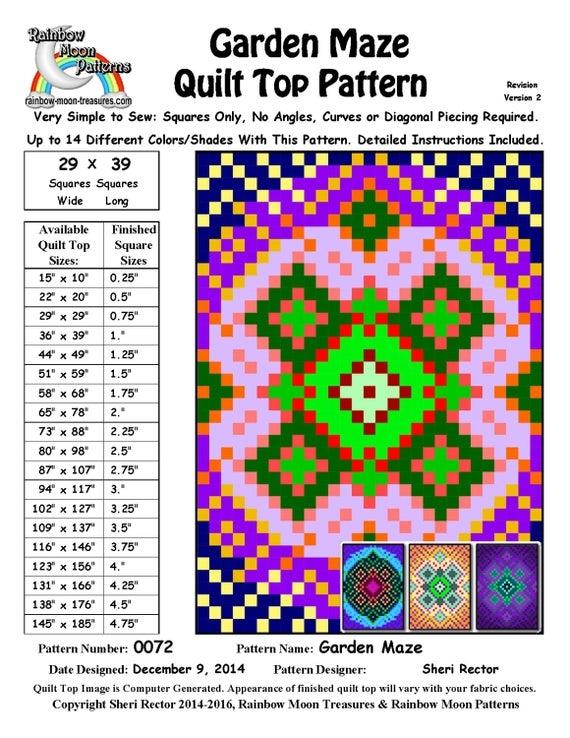 Unique 0072 garden maze quilt pattern 9 New Garden Maze Quilt Pattern