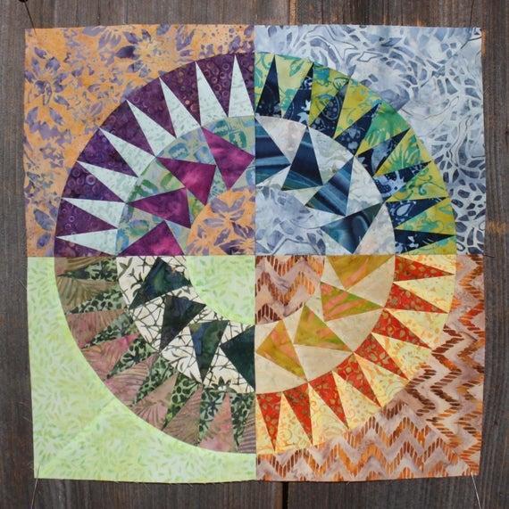 Unique new york beauty quilt block 5 paper piecing pattern 11 Unique New York Beauty Quilt Patterns Inspirations