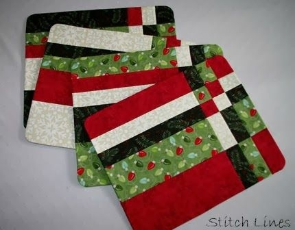 Modern quilted oval placemat patterns free quilt pattern Cozy Quilted Christmas Placemat Patterns Free