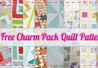 10 free charm pack quilt patterns easy quilt patterns Cool Quilt Patterns With Charm Packs Gallery