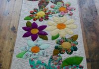 12 blossoms table runner paper pattern quilted table Interesting Table Runners Patterns For Quilters Inspirations