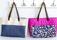 14 free tote bag patterns you can sew in a day plus tips Modern New Fabric Quilted Tote Bags Inspirations