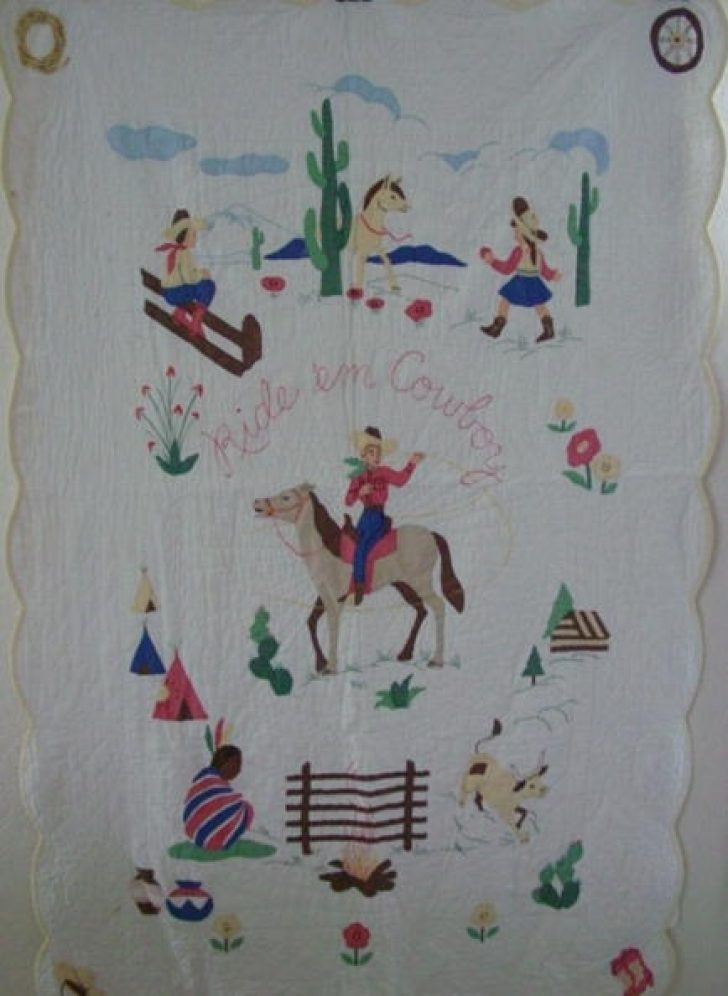Permalink to Interesting Vintage Cowboy Quilt Gallery