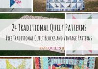 24 traditional quilt patterns and quilt blocks traditional Stylish Vintage Quilt Blocks Inspirations