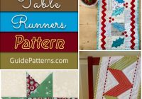 28 free quilted table runners pattern guide patterns Cool Quilt Patterns Table Runners