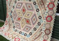 348 best hexagon quilts images on pinterest antique quilts Modern Ebay Vintage Quilts Inspirations
