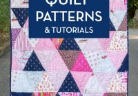 45 easy beginner quilt patterns and free tutorials polka Stylish Patchwork Quilt Patterns For Boys