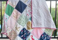 45 easy beginner quilt patterns and free tutorials polka Unique Big Block Quilt Patterns For Beginners Inspirations