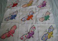 54 c1930 vintage applique butterfly quilt blocks lovely hand Stylish Vintage Butterfly Quilt Block Patterns